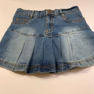 South Pole denim pleated ruffle skort.  Size 12